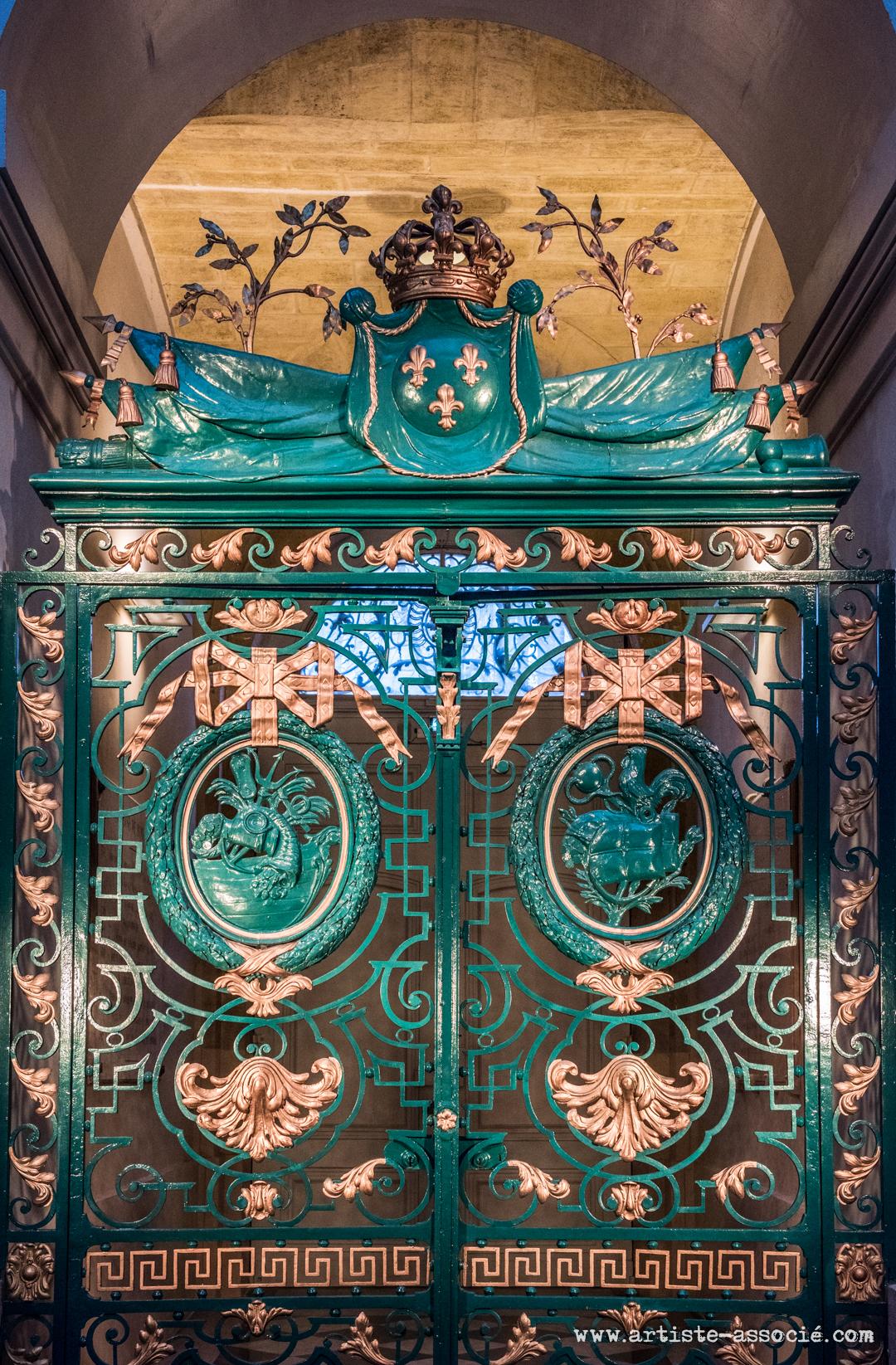 Grille d'honneur Hall de la Bourse
